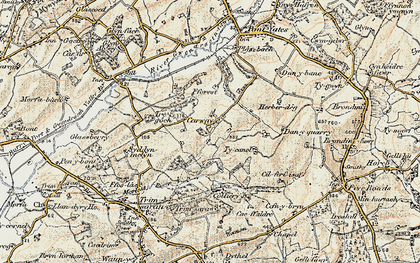 Old map of Carway in 1901