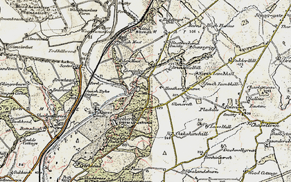 Old map of Todhillwood in 1901-1904