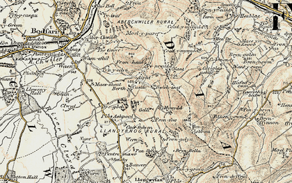 Old map of Castell in 1902-1903