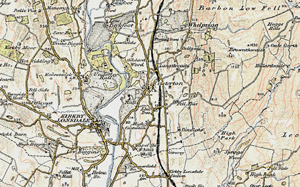 Old map of Langthwaite in 1903-1904