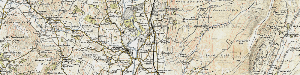 Old map of Whittle Hole in 1903-1904