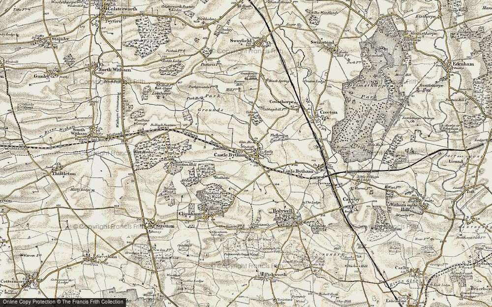 Old Map of Castle Bytham, 1901-1903 in 1901-1903
