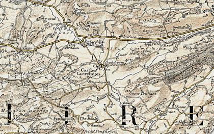 Old map of Y Byrwydd in 1902-1903