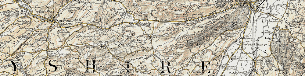 Old map of Y Figyn in 1902-1903