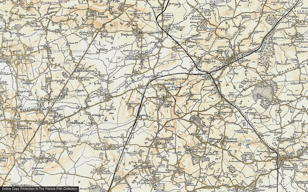 Old Map of Castle Cary, 1899 in 1899