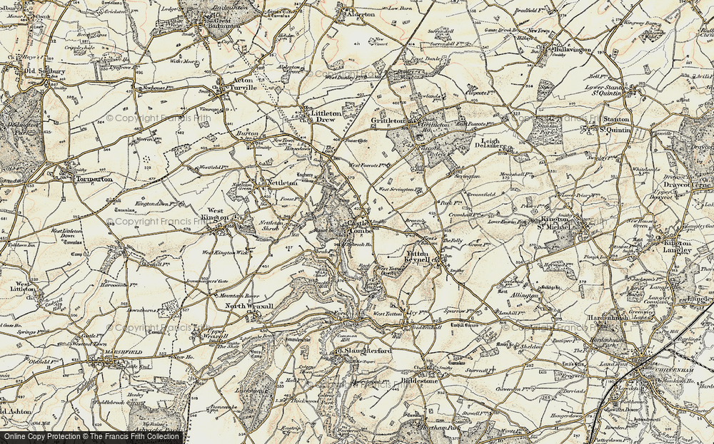 Old Map of Castle Combe, 1898-1899 in 1898-1899
