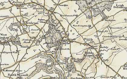 Old map of Castle Combe in 1898-1899