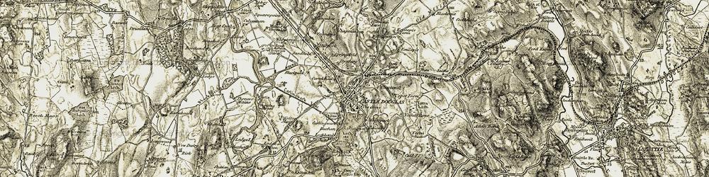 Old map of Castle Douglas in 1904-1905