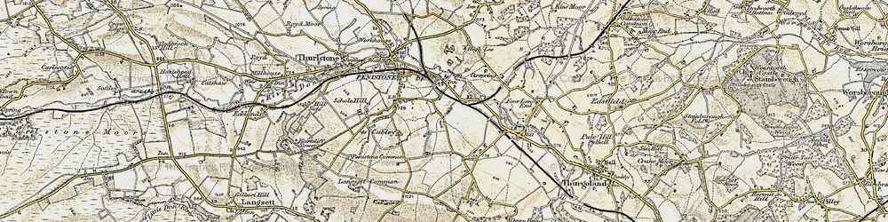 Old map of Castle Green in 1903