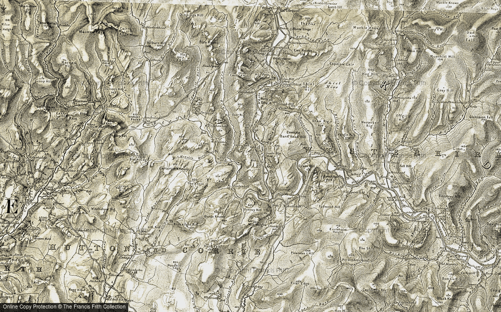 Old Map of Historic Map covering Bank Head Hill in 1901-1904