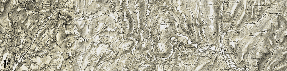 Old map of Whiteyett in 1901-1904