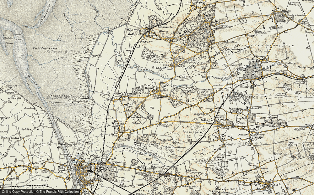 Old Map of Castle Rising, 1901-1902 in 1901-1902
