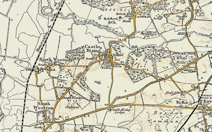 Old map of Castle Rising in 1901-1902