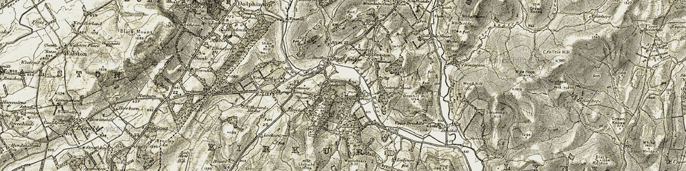 Old map of Woolshears Wood in 1903-1904