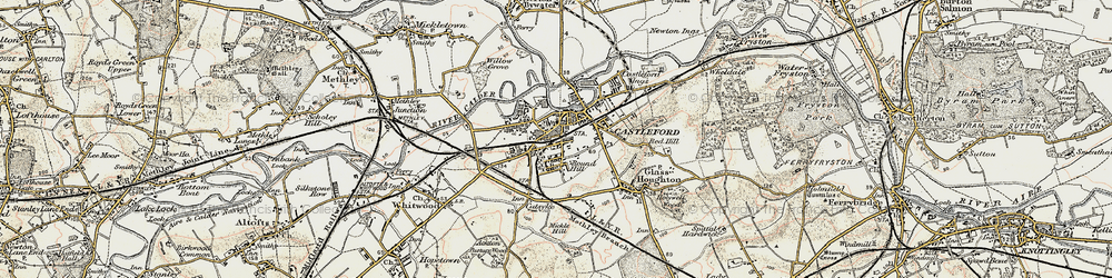 Old map of Castleford in 1903