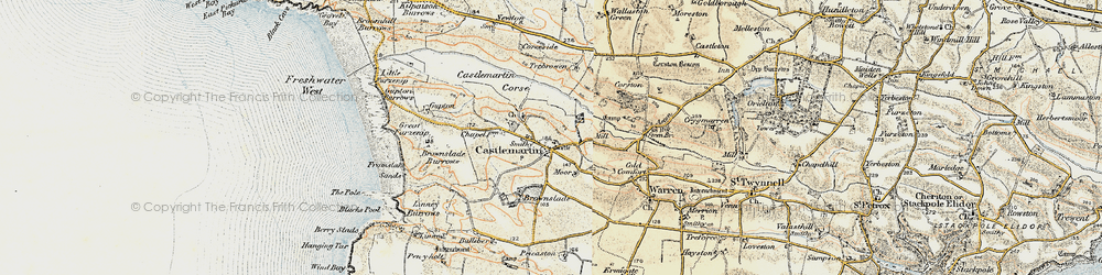 Old map of Wogaston in 1901-1912