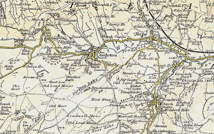 Old map of Limestone Way in 1902-1903