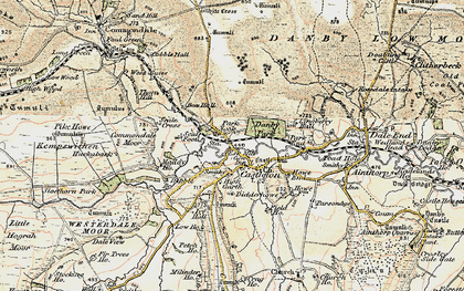 Old map of Castleton in 1903-1904