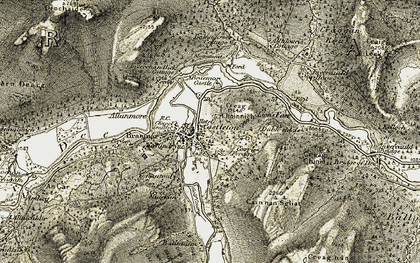 Old map of Altdourie in 1908