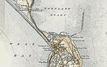 Old map of Balaclava Bay in 1899