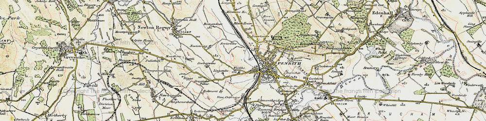 Old map of Wildriggs in 1901-1904