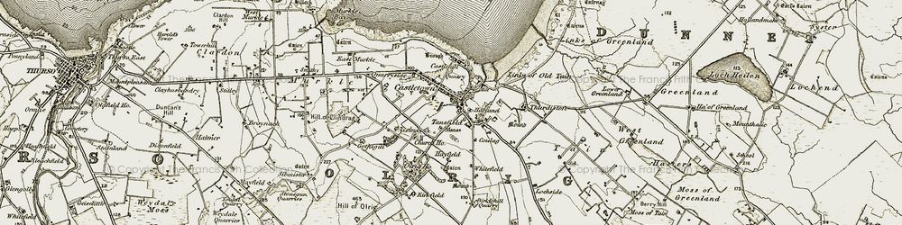 Old map of Whitefield in 1912