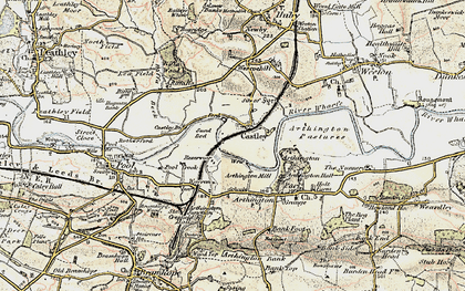 Old map of Arthington Ho in 1903-1904