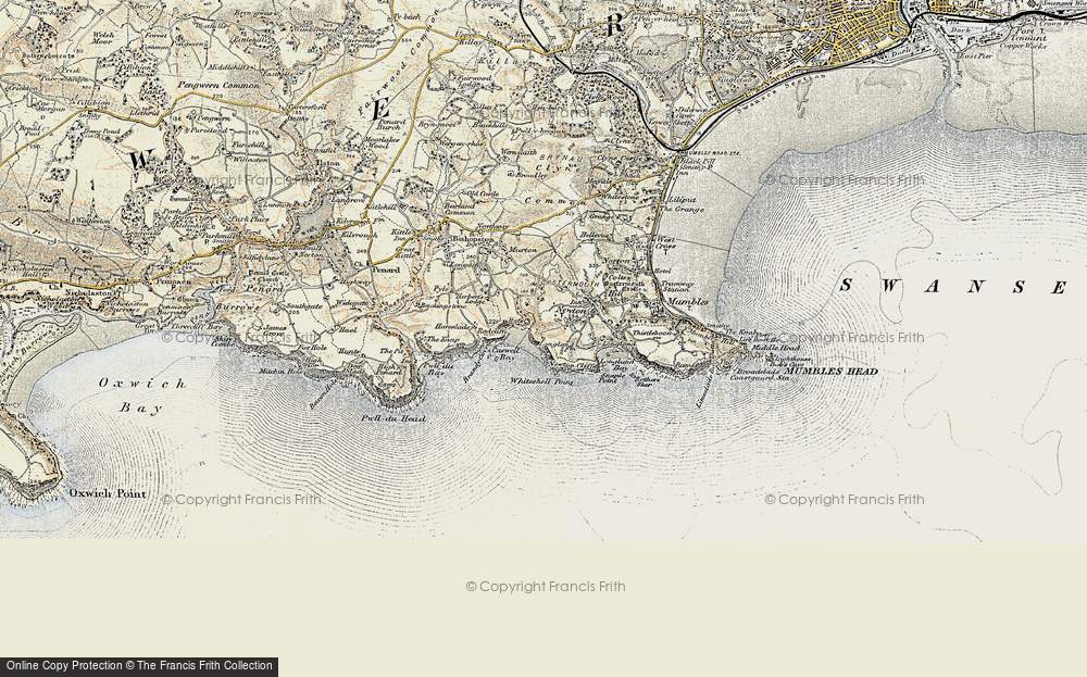 Old Map of Caswell Bay, 1900-1901 in 1900-1901