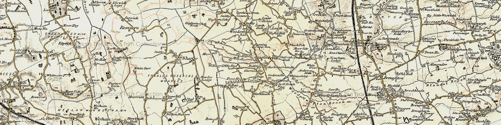 Old map of Catforth in 1903-1904