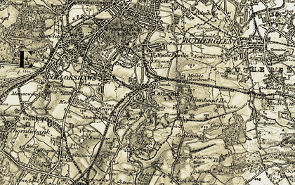 Old map of Linn Park in 1904-1905