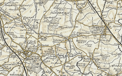 Old map of Barber's Coppice in 1901-1902