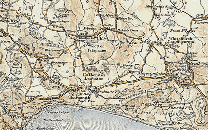 Old map of Baker's Cross in 1898-1899