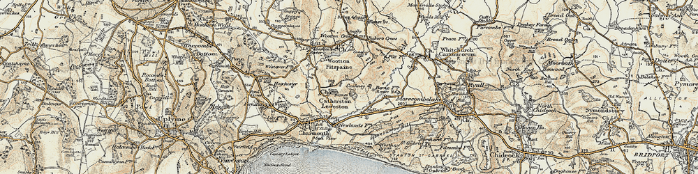 Old map of Wootton Cross in 1898-1899