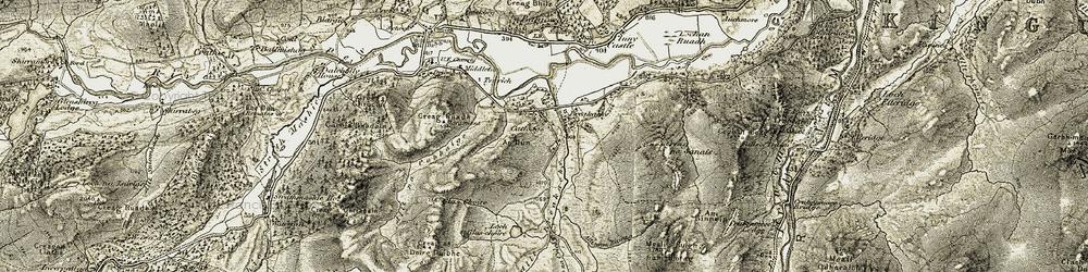 Old map of Allt nam Biorag in 1908
