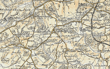Old map of Catsfield in 1898