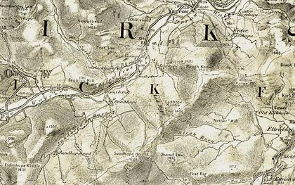 Old map of Yarrow Cott in 1901-1904