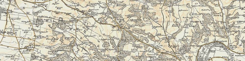 Old map of Windmill Hill in 1897-1898