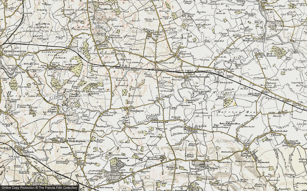 Old Map of Historic Map covering Lingfield Cottage in 1903-1904