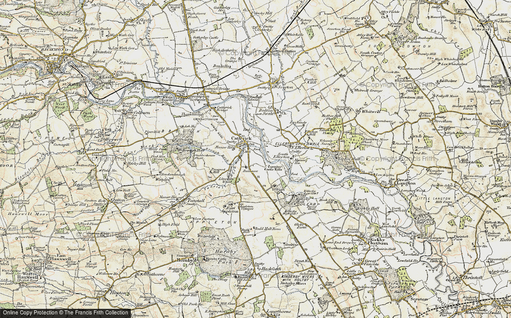Old Map of Catterick, 1903-1904 in 1903-1904