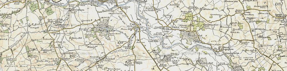 Old map of Catterick in 1903-1904