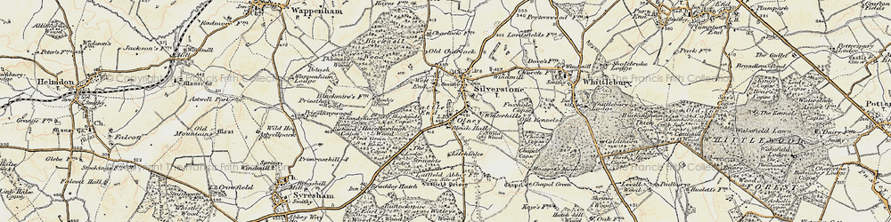 Old map of Wetley's Wood in 1898-1901