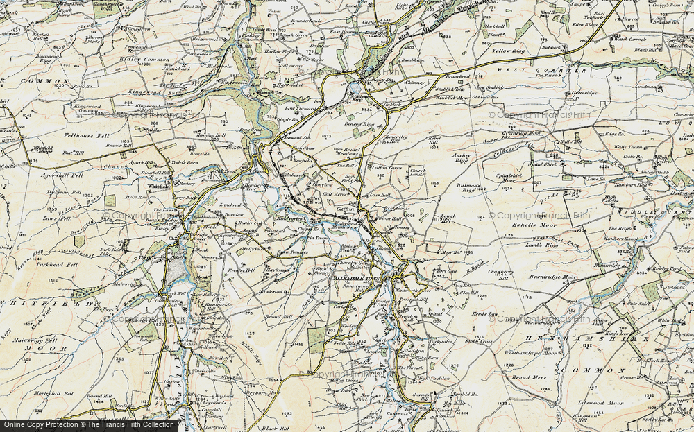 Old Map of Catton, 1901-1904 in 1901-1904