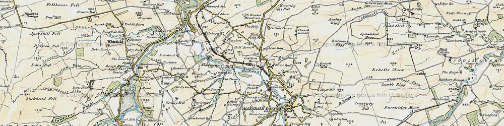Old map of Wide Eals in 1901-1904