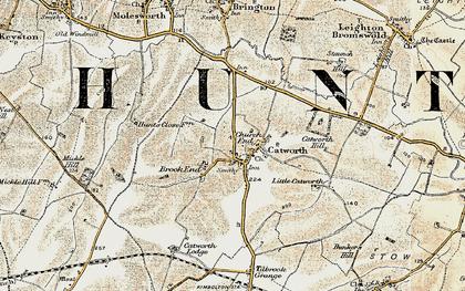 Old map of Tilbrook Grange in 1901