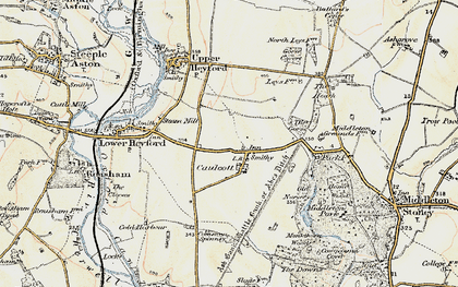 Old map of Aves Ditch in 1898-1899