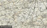 Map of Caulcott, 1898-1901