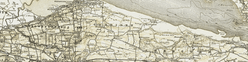 Old map of Woolstoun in 1904-1906