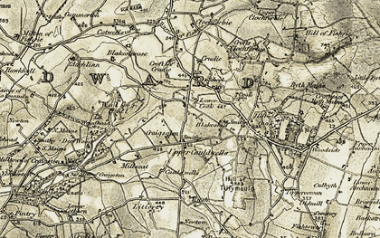 Old map of Rush in 1909-1910