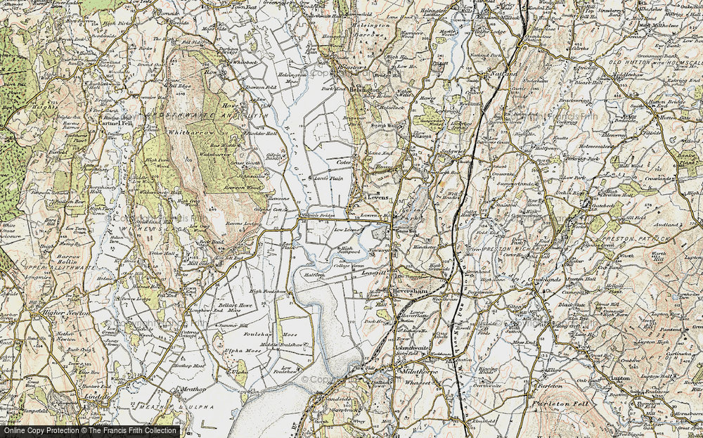 Old Map of Historic Map covering Levens Hall in 1903-1904