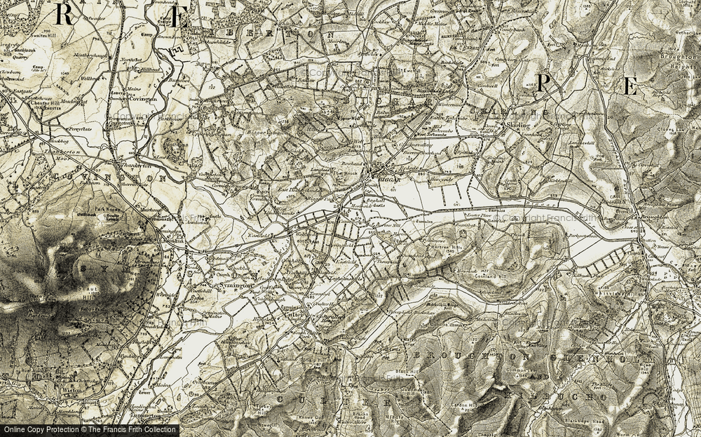 Old Map of Historic Map covering Langlees Ho in 1904-1905